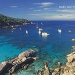 โปสการ์ด หมู่เกาะสิมิลัน จังหวัดพังงา /ทะเล/ชายหาด/อุทยานแห่งชาติ